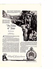 1922 Ad Elgin Watches American Railways Kronos Father Time Artist Harold alex
