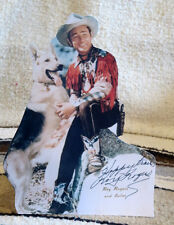 "Roy Rogers and Bullet ""King of the Cowboys"" Figure Tabletop Display Standee 10"""
