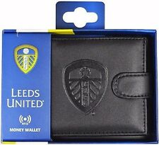 Leeds United FC RFID Anti Fraud Leather Wallet Official Accessories