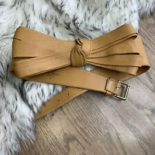 B-Low The Belt Women's S Large Bow Light Brown Leather Belt