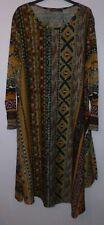BNWOT Zanzea Women's Unusal Style Patterned Midi Dress UK Size 20/22 (3XL)