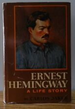 """1969 """"Ernest Hemingway-A life story"""" written by Carlos Baker 1st ed dust cover."""