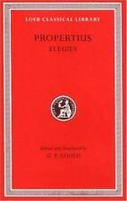 Propertius, Elegies (Loeb Classical Library No. 18)