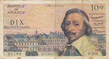 RARE ! Billet 10 F Richelieu du 4-1-1963 FAY 57.22 alph. P.254 DERNIERE DATE