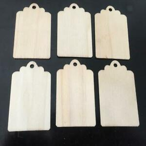 10 Wood Gift Tags Blank Wooden Hanging Label for Wedding Party Gift Favor Crafts