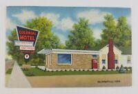 Postcard Linen Colonial Motel Brownsville Tennessee Highway 70 an 79