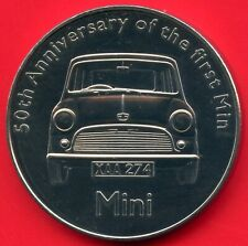 50th Anniversary Of The First MINI Car Coin Token 38mm Dia. X 3mm Thick