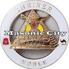 Z-161 WHITE Shriner NOBLE Auto Emblem Shrine Temple Mason Masonic Car