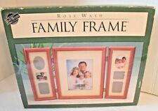 """Rose Wash Family Photo Picture Frame Holds one 5x7"""" photo and smaller photos New"""
