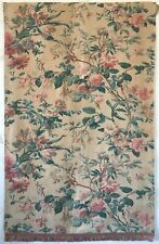 Beautiful 19th C. French Botanical Cotton Floral Fabric  (2880)