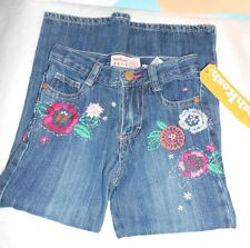 OshKosh Girls Adjustable Waist Embellished Denim Jeans Blue Four (4) NWT