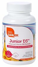 Zahler Junior D3 1000IU High Absorption Chewable Vitamin D3 For Kids