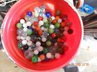 Mixed Lot of vtg Glass Marbles - 8 Pounds - all different colors  sizes