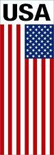 Aufkleber Flagge mit Schriftzug USA 110 x 40 mm  Aufkleber Sticker Auto Flagge