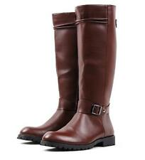 Fashion Riding Mens Military Leather Knee High Equestrian Boots Shoes hot