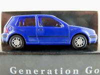 """Wiking/VW VW Golf IV """"Generation Golf"""" (1999) in blau 1:87/H0 NEU/OVP"""