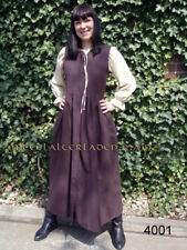 Mittelalter-Kleid Bauernkleid braun ärmellos Gr.XXXL Mittelalterkleid Baumwolle