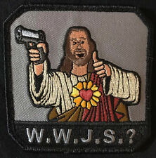 WHAT WOULD JESUS SHOOT? WWJS ARMY MILSPEC SWAT VELCRO® BRAND FASTENER PATCH