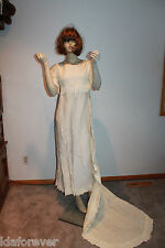 Vintage Wedding Dress 1950 Dress w/detachable train small size