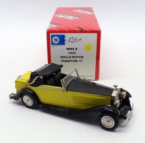 Western Models 1/43 Scale WMS8 - 1933 Rolls Royce Phantom II - Yellow/Black