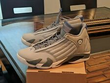 Air Jordan 14 Wolf Grey / Blue sz 14 AUTHENTIC Nike Hot Boatfooters VNDS Pics!