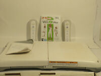 Nintendo Wii Fit Bundle w Balance Board Wii Fit Game & 2 Controllers No Console