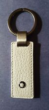 Montblanc White Leather Meisterstuck Selection Key Fob