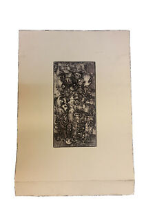 Abstract Pencil Signed Etching Black White 1944 1967? American?