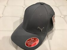 Puma Medium Gray Evercat Alloy Stretch Fit Cap Hat Curved Bill Sz Small/Medium