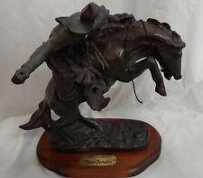 "Remington Western ""Bronco Buster"" Cowboy Horse Figurine Sculpture"