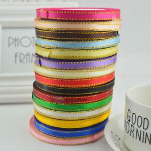"25 Yards 1/4""(6mm) Grosgrain Ribbon Satin DIY Hair Bow Party Gift Supplies Solid"