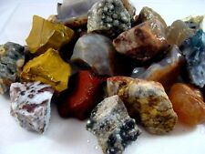 AGATE AND JASPER MIX - 2 1/2 LB Lot - TUMBLER, CABBING ROUGH - FREE SHIPPING
