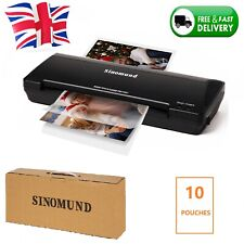 More details for a4 laminator laminates a4 & a5 hot cold laminating machine for office home black