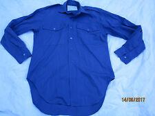Camicia Mans Blu LAVORANDO 1972 modello, Camicia, dimensione: 14, Banner W. J. L