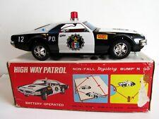 1965 Oldsmobile Toronado High Way Police Patrol Car Tôle Blik 25 cm Japan Tin