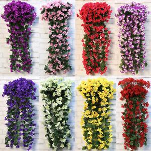 75CM Balkonblumen Kunstblumen Blumen Künstliche Girlande Blumen Hängend Dekor