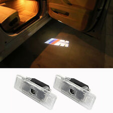 2x LED Welcome Courtesy Door Shadow Logo Projector Light For BMW E39 E53 M