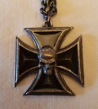Black Knight's Cross Pendant on Chain by Alchemy Gothic