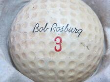 (1) Bob Rosburg Signature Logo Golf Ball (Cir 1963 #3) Made In Usa