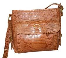 Leather Croco Handbag Sophie Organizer Crossbody Messenger Coldwater Creek Brown