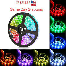 5M 5050 RGB Waterproof 300/150 LED Strip Light SMD Ribbon Rope Tape DC12V Bright