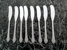 8 INDIVIDUAL BUTTER KNIVES ONEIDA 1881 ROGERS PLANTATION SILVERPLATE 1948