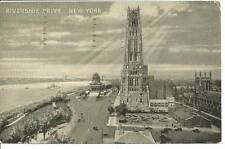 old used 1941 postcard Riverside Drive , New York black & white