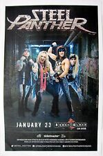 STEEL PANTHER 2016 SAN DIEGO CONCERT TOUR POSTER - Glam Rock, Heavy Metal Music