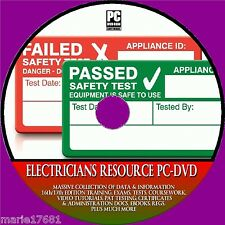 ELECTRICIANS RESOURCE 17TH EDITION TRAINING PAT& ELECTRICAL EXAMS LABELS DVD-ROM