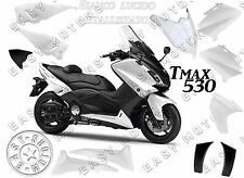 KIT CARENE SCOCCHE PLASTCHE YAMAHA TMAX T-MAX 530 2012 14 BIANCO LUCIDO COMPETIT