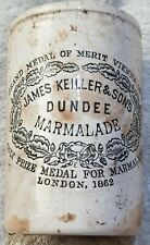 JAMES KEILLER & SONS DUNDEE MARMALADE LONDON JAM JAR PRESERVE POT.