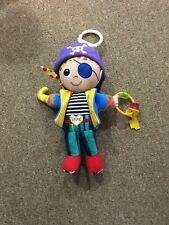 Lamaze Pirate Baby Toy Plush Rattle Stroller EUC