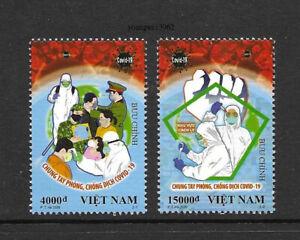 Viet Nam 2020-T11 Pandemic Special Issue 2V Stamp China Fight Virus 新冠病毒 特11