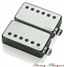 EMG-57 & EMG-66 pair of Active Humbuckers, Brushed Chrome, Solderless